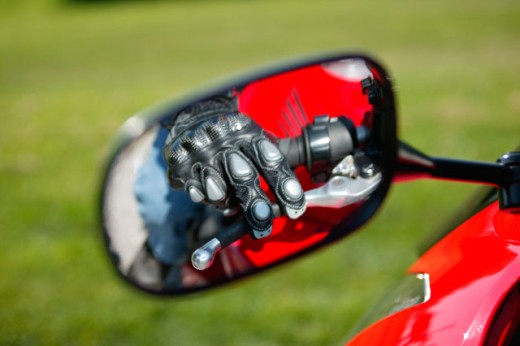 Close-up of a side view mirror : Stock Photo