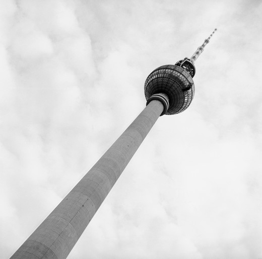 Stock Photo: 1422-693 Low angle view of the Berlin Television Tower