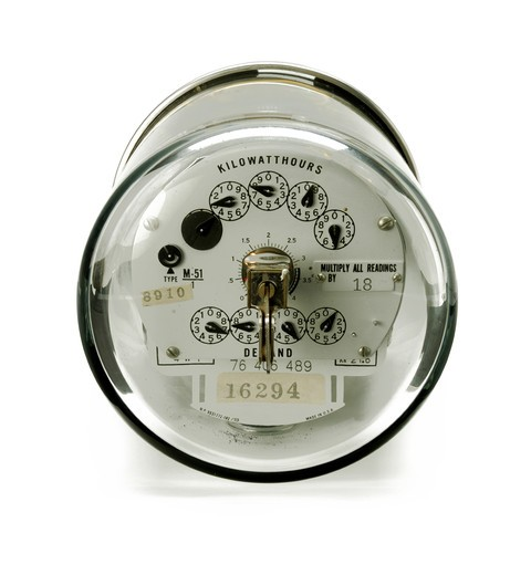 Stock Photo: 1422R-1001 Close-up of an electric meter