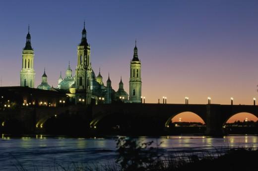 Basilica de Nuestra Senora del Pilar Zaragoza Spain : Stock Photo