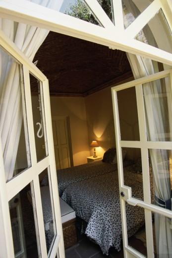 Interior of a hotel bedroom, Casa Hampton, San Miguel de Allende, Mexico : Stock Photo