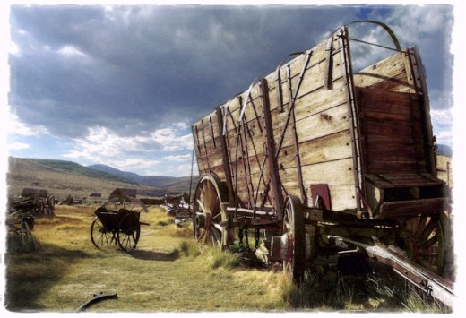 Stock Photo: 1432-161 Wagon at Bodie State Historic Park, California, USA