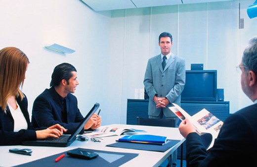 Stock Photo: 1436R-013574 Executives in conference