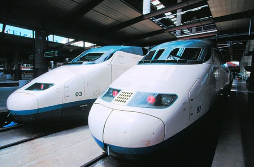 AVE (High speed train). Madrid. Spain : Stock Photo