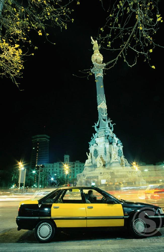 Christopher Columbus Monument Barcelona Spain : Stock Photo