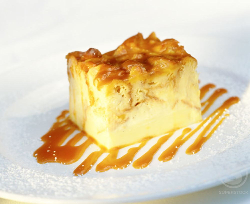 Stock Photo: 1436R-125068 Bread Pudding