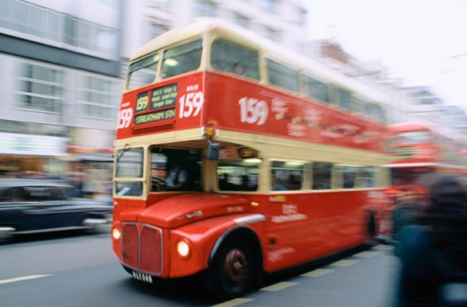 Bus at Oxford Street. London. England : Stock Photo