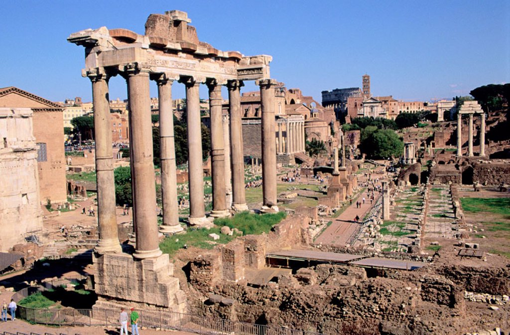 Stock Photo: 1436R-140041 Roman Forum