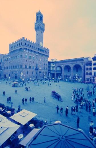 Piazza della Signoria Florence Italy : Stock Photo
