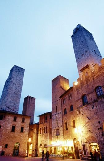 Piazza del Duomo San Gimignano Italy : Stock Photo