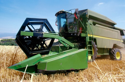 Stock Photo: 1436R-187092 Wheat harvest