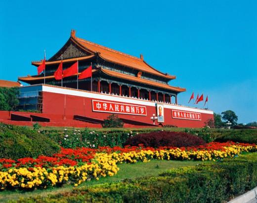 Tiananmen Gate Tainamen Square Beijing China : Stock Photo