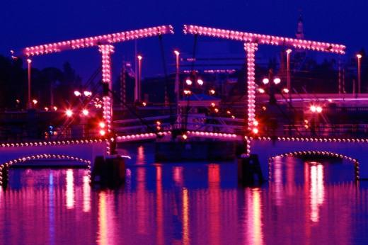 Skinny Bridge Amsterdam Netherlands : Stock Photo