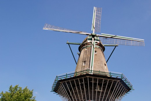 Stock Photo: 1436R-197081 De Gooyer Windmill