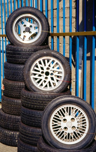 Tyres for sale : Stock Photo