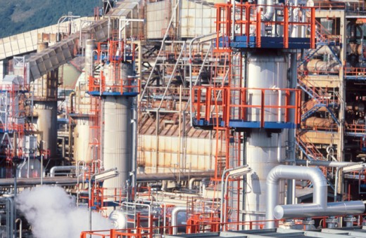 Stock Photo: 1436R-212077 Muskiz oil refinery. Biscay. Spain