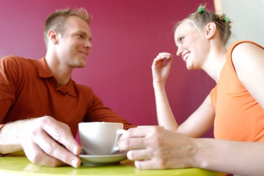 Couple having a coffee : Stock Photo
