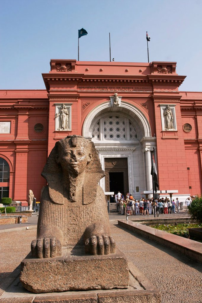 Stock Photo: 1436R-247629 Façade of Egyptian Museum, Cairo. Egypt