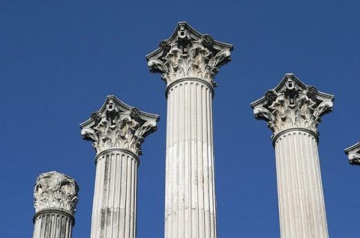 Roman temple, Cordoba. Andalusia, Spain : Stock Photo