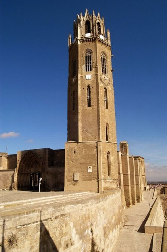 Stock Photo: 1436R-249637 Old cathedral (13th-14th century), Lleida. Segrià, Catalonia. Spain
