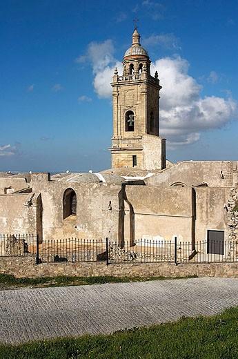 Church of Santa Maria la Coronada (15th century), Medina Sidonia. Cádiz province, Andalusia, Spain : Stock Photo
