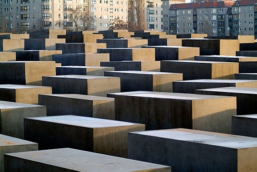 Holocaust Memorial by Peter Eisenman. Berlin, Germany : Stock Photo