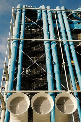 Stock Photo: 1436R-253680 Centre Georges Pompidou. Paris. France.
