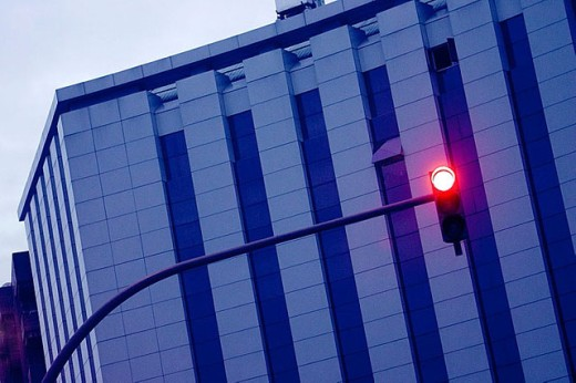 Building and red light : Stock Photo