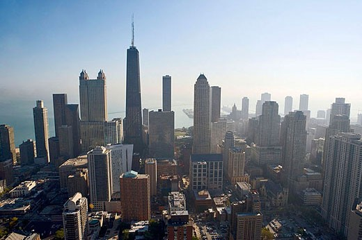 Aerial view of Chicago. Illinois. USA. : Stock Photo