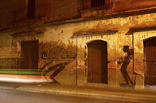 Stock Photo: 1436R-263220 Graffiti. Oaxaca City. Mexico