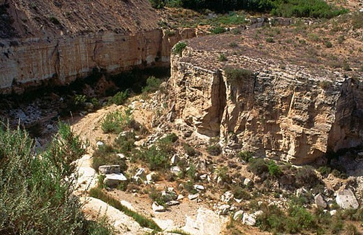 Karstic ravine, Sorbas. Almería province, Andalusia, Spain : Stock Photo