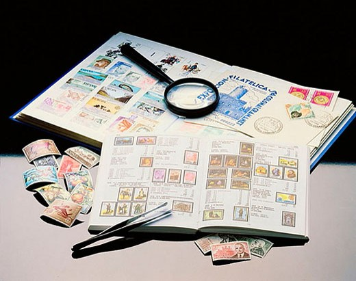 Philately : Stock Photo