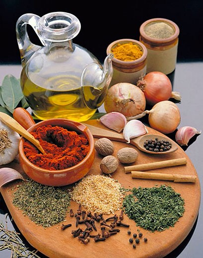 Herbs and spices : Stock Photo