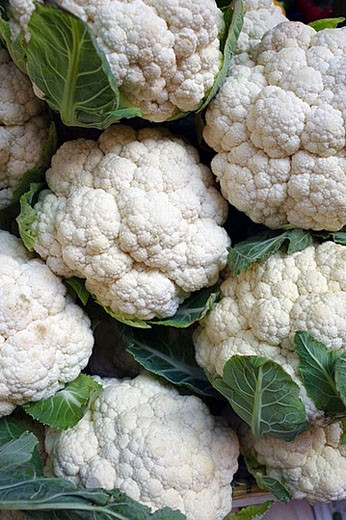 Cauliflower on a farmers market in Macau, China, Asia : Stock Photo