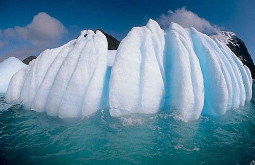 Fluted Iceberg. South Orkney Island, : Stock Photo