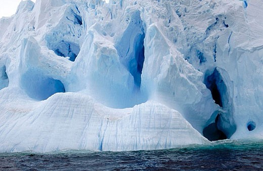 Eroded Iceberg. Dumont d´Urville. Antarctica : Stock Photo