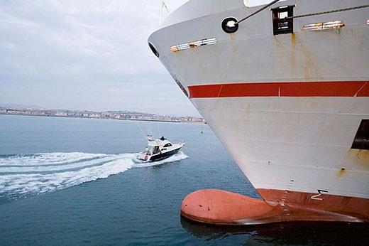 Stock Photo: 1436R-276432 Port of Bilbao, Santurtzi. Biscay, Euskadi, Spain