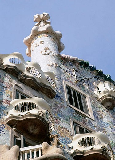 Batlló House (Gaudí, 1904-1906). Barcelona. Spain : Stock Photo