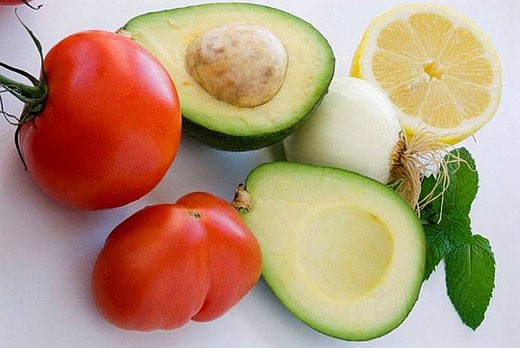 Guacamole ingredients : Stock Photo