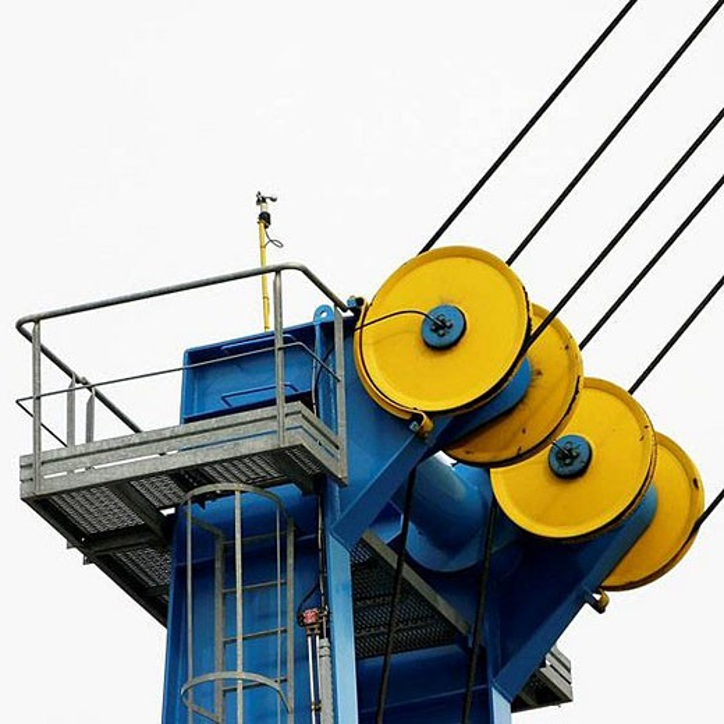 Stock Photo: 1436R-281975 Crane at port, Valence. France