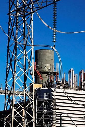 Power plant, Mexico : Stock Photo