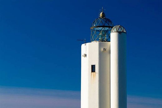 Lighthouse, Villano cape. Biscay, Euskadi, Spain. : Stock Photo