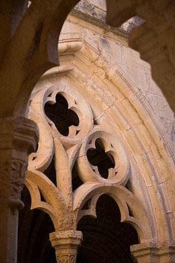 Stock Photo: 1436R-285650 Santa Maria de Poblet Monastery  Catalonia, Spain