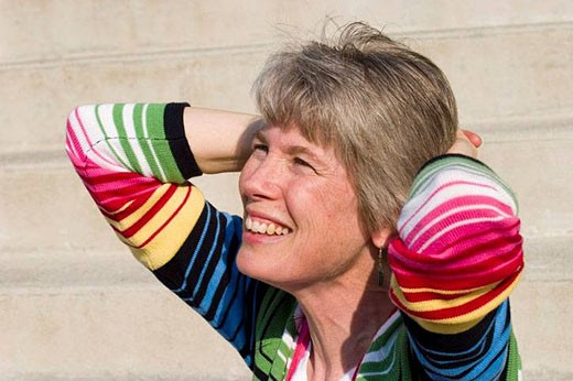 Close-up of a middle-aged woman. : Stock Photo