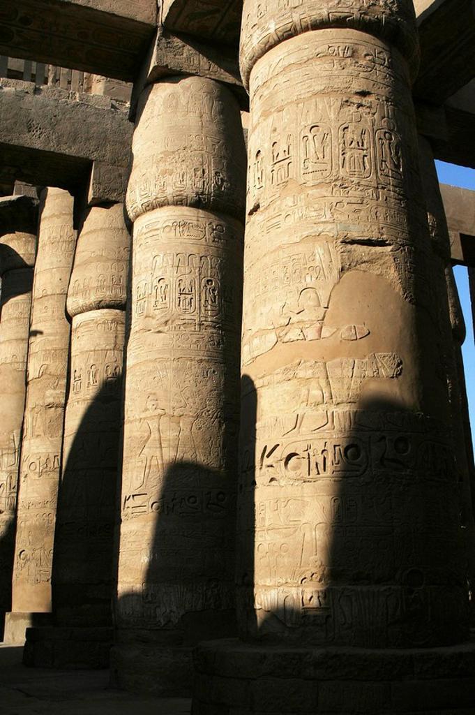 Stock Photo: 1436R-294820 Karnak temple, Luxor city, Egypt