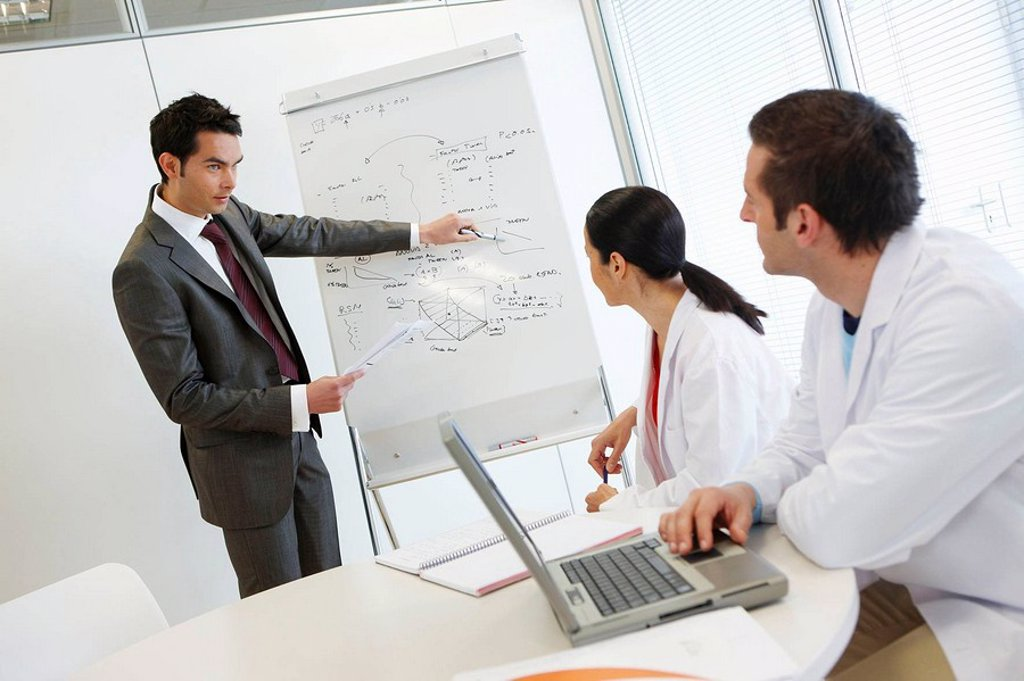 Stock Photo: 1436R-296280 Meeting room