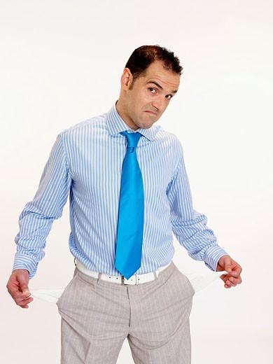 hombre sin dineros : Stock Photo