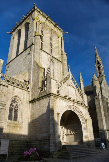 Stock Photo: 1436R-296998 St Ronan church. Locronan (Lokorn in Breton).Finistère department in Bretagne in northwestern France.