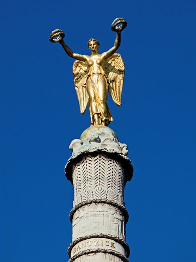 Stock Photo: 1436R-297792 Detail of Victory figure on the La Fontaine du Palmier monument in the Place du Châtelet, Paris, France, Europe
