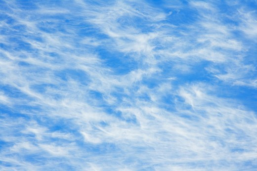 Stock Photo: 1436R-300086 Summer day with blue sky and Cirrus Clouds